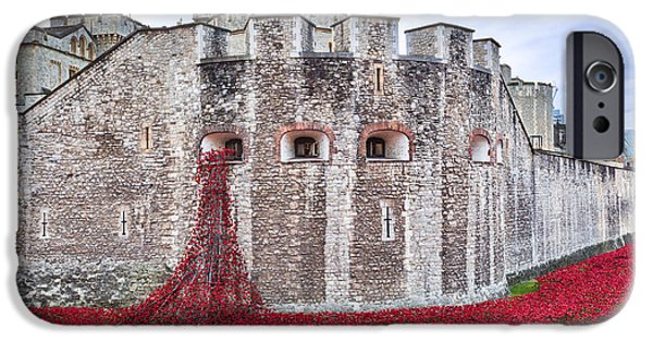 Recently Sold -  - Ww1 iPhone Cases - Poppies at The Tower Of London iPhone Case by Graham Prentice