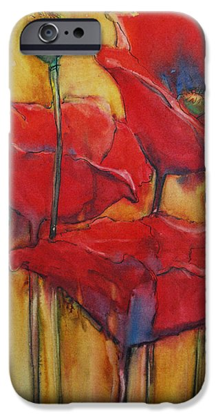 Freimann iPhone Cases - Poppies III iPhone Case by Jani Freimann