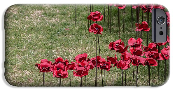 Ww1 Photographs iPhone Cases - Poppies iPhone Case by Martin Newman