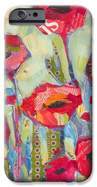 Flower iPhone Cases - Poppies No 5 iPhone Case by Shelli Walters