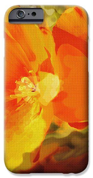 Poppies on Fire iPhone Case by Artist and Photographer Laura Wrede