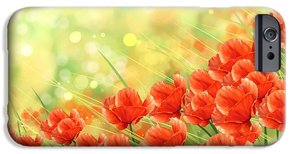 Flower Still Life Prints iPhone Cases - Poppies iPhone Case by Veronica Minozzi