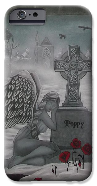 Night Angel iPhone Cases - Poppy iPhone Case by Amanda Machin