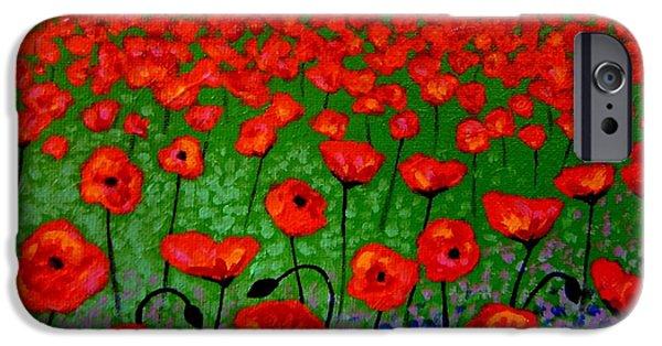 Tree Art Print iPhone Cases - Poppy Carpet  iPhone Case by John  Nolan