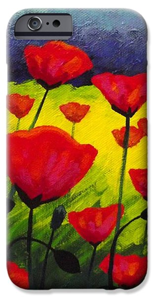 Poppy Corner III iPhone Case by John  Nolan