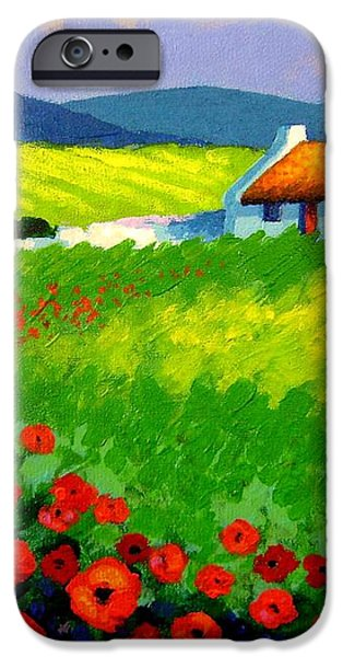 Poppy Field - Ireland iPhone Case by John  Nolan