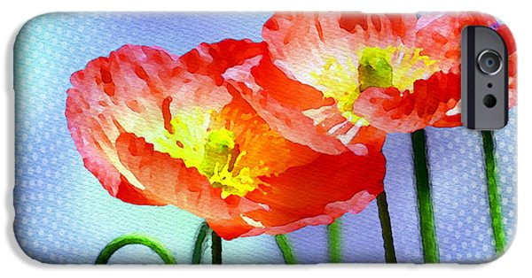 Flower Gardens Photographs iPhone Cases - Poppy series - Garden Views iPhone Case by Moon Stumpp