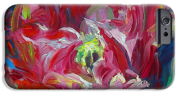 Business Paintings iPhone Cases - Poppys Secret  iPhone Case by Talya Johnson