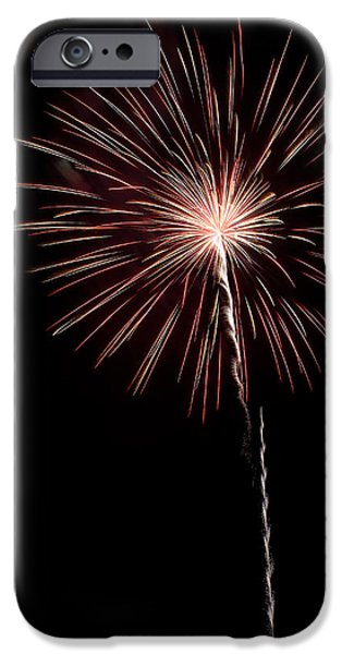4th Of July iPhone Cases - Pops in the Park 1 iPhone Case by Lone  Dakota Photography