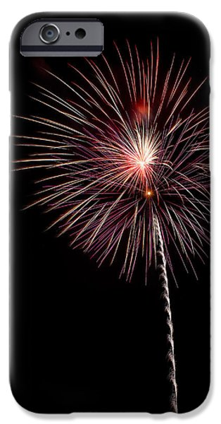 Fireworks iPhone Cases - Pops in the Park 3 iPhone Case by Lone  Dakota Photography