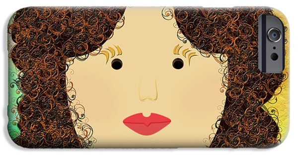 Porcelain Doll iPhone Cases - Porcelain Doll 1 iPhone Case by Andee Design