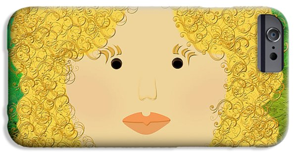 Porcelain Doll iPhone Cases - Porcelain Doll 2 iPhone Case by Andee Design