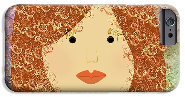 Porcelain Doll iPhone Cases - Porcelain Doll 20 iPhone Case by Andee Design