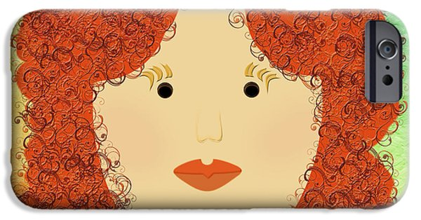 Porcelain Doll iPhone Cases - Porcelain Doll 4 iPhone Case by Andee Design