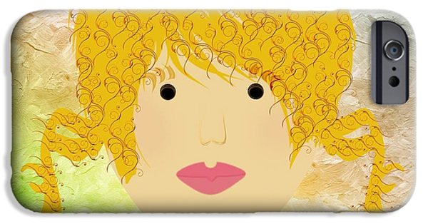 Porcelain Doll iPhone Cases - Porcelain Doll 47 iPhone Case by Andee Design