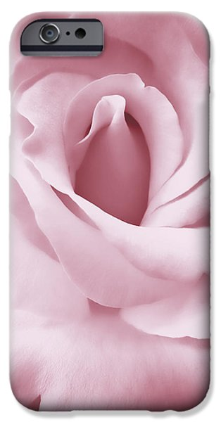 Porcelain Pink Rose Flower iPhone Case by Jennie Marie Schell