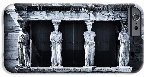 Greek School Of Art iPhone Cases - Porch of the Caryatids iPhone Case by John Rizzuto