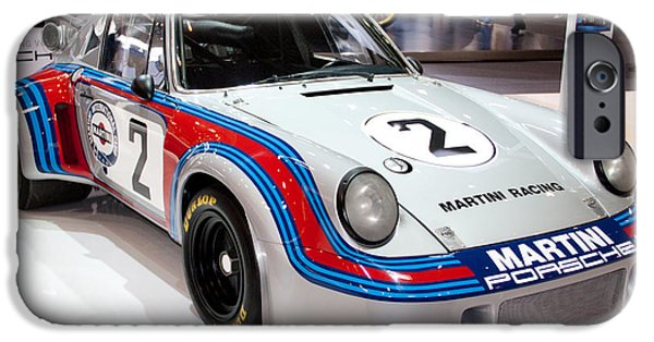 Racing Pyrography iPhone Cases - Porche 911RS iPhone Case by Borja Doncel