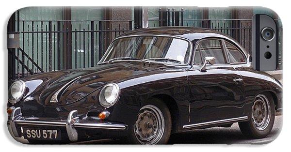 Best Sellers -  - Automotive iPhone Cases - Porsche 1600 Super iPhone Case by Rona Black