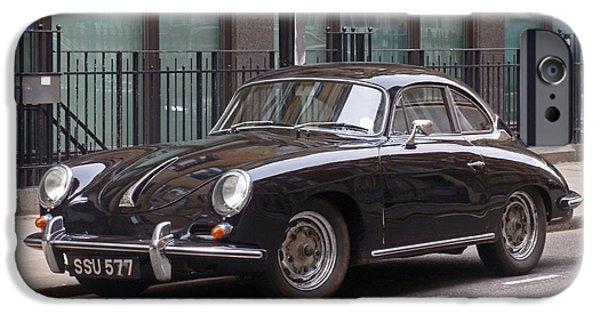 Automotive iPhone Cases - Porsche 1600 Super iPhone Case by Rona Black