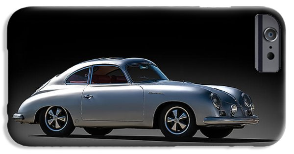 Silver iPhone Cases - Porsche 356 Outlaw iPhone Case by Douglas Pittman