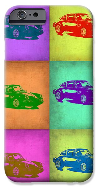 Porsche 911 Pop Art 2 iPhone Case by Naxart Studio