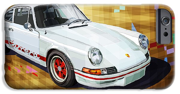 Racing Mixed Media iPhone Cases - Porsche 911 RS iPhone Case by Yuriy Shevchuk