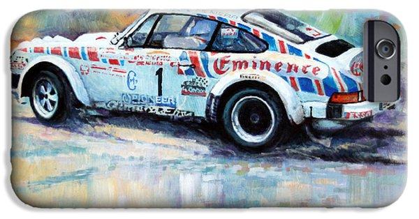 Porsche 911 iPhone Cases - Porsche 911 SC  Rallye Sanremo 1981 iPhone Case by Yuriy Shevchuk