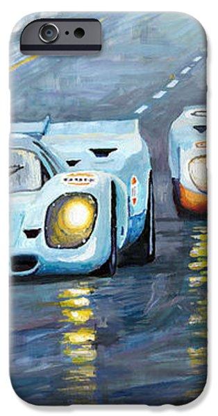 Porsche 917 K GULF Spa Francorchamps 1970 iPhone Case by Yuriy  Shevchuk