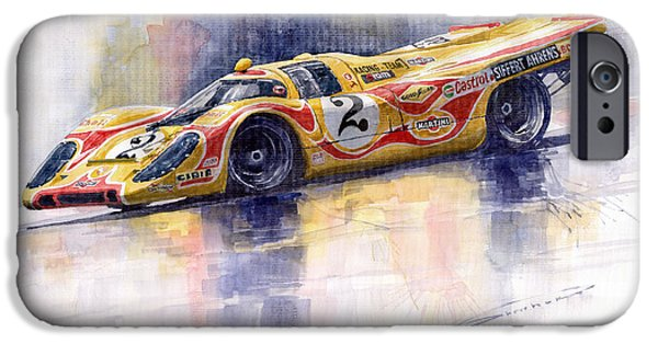 Porsche 917k iPhone Cases - Porsche 917 K Martini Kyalami 1970 iPhone Case by Yuriy Shevchuk