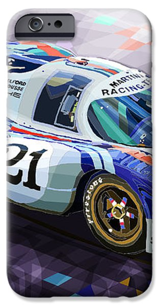 Porsche 917 LH Larrousse Elford 24 Le Mans 1971 iPhone Case by Yuriy  Shevchuk