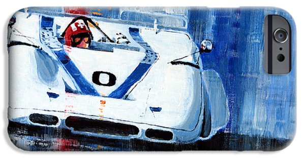 Laguna Seca iPhone Cases - Porsche 917 PA J.Siffert Laguna seca CanAm 1969 iPhone Case by Yuriy Shevchuk