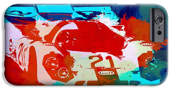 Racing Photographs iPhone Cases - Porsche 917 Racing 1 iPhone Case by Naxart Studio