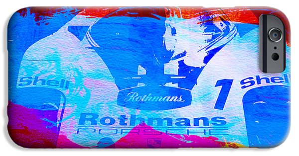 Old Cars iPhone Cases - Porsche 917 Rothmans 1 iPhone Case by Naxart Studio