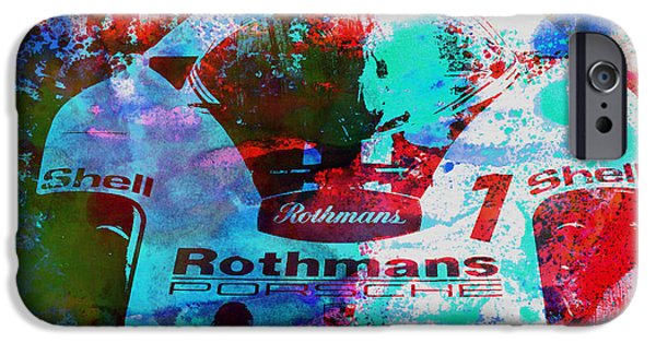 Old Cars iPhone Cases - Porsche 917 Rothmans 2 iPhone Case by Naxart Studio
