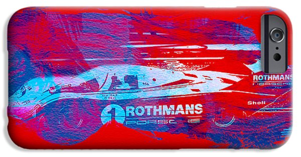 Old Cars iPhone Cases - Porsche 917 Rothmans 4 iPhone Case by Naxart Studio