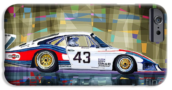 Classic Racing Car iPhone Cases - Porsche 935 Coupe Moby Dick iPhone Case by Yuriy  Shevchuk