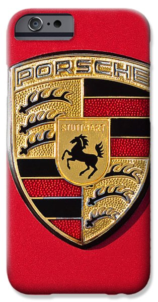Porsche Emblem -0057cold iPhone Case by Jill Reger