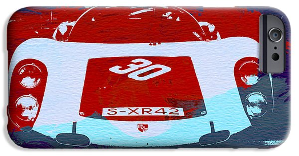 Racing Photographs iPhone Cases - Porsche Le Mans Racing iPhone Case by Naxart Studio
