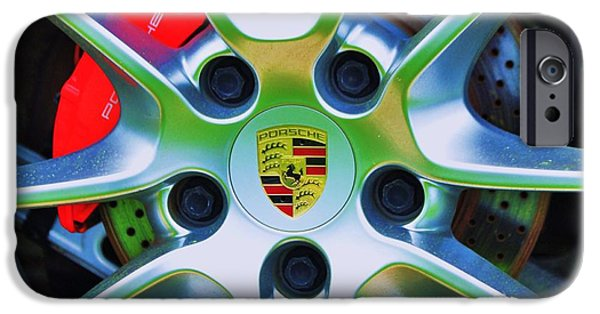 Stainless Steel Frame iPhone Cases - Porsche Wheel iPhone Case by Marcus Dagan