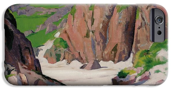 Colorist iPhone Cases - Port Bhan  Iona iPhone Case by Francis Campbell Boileau Cadell