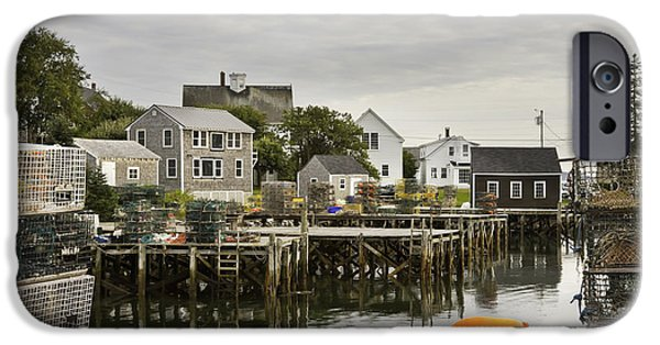 Maine Seascapes iPhone Cases - Port Clyde on The Coast Of Maine iPhone Case by Keith Webber Jr