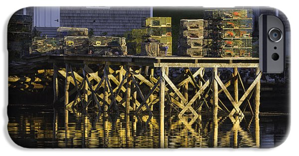 East Village iPhone Cases - Port Clyde Pier on The Coast Of Maine iPhone Case by Keith Webber Jr