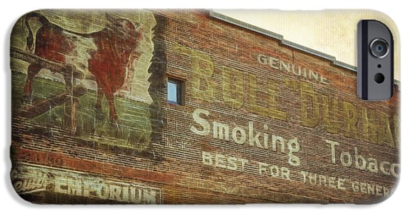 Buildings iPhone Cases - Port Townsend Mural iPhone Case by Joan Carroll