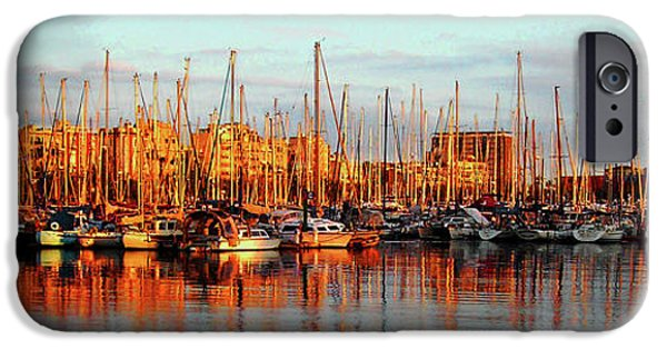 Spanien iPhone Cases - Port Vell - Barcelona iPhone Case by Juergen Weiss