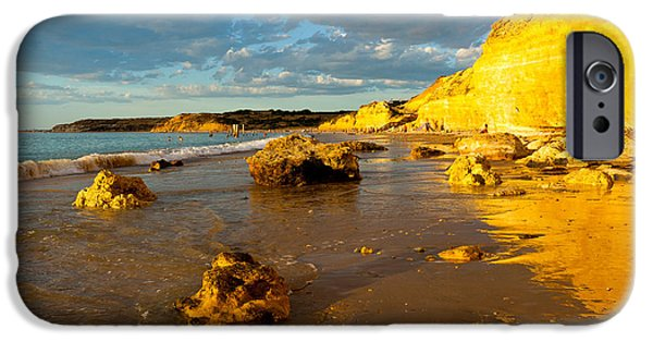 Ruin Photographs iPhone Cases - Port Willunga Beach iPhone Case by Bill  Robinson