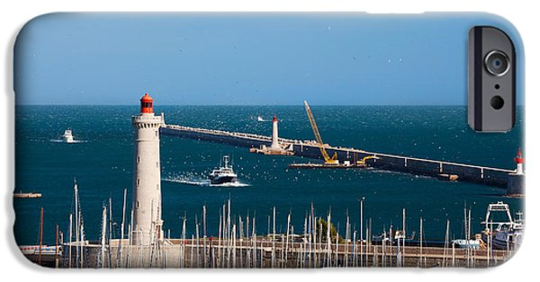 Languedoc iPhone Cases - Port With The Mole St-louis Pier iPhone Case by Panoramic Images