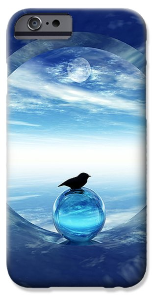 Surrealism Digital iPhone Cases - Portal to Peace iPhone Case by Richard Rizzo