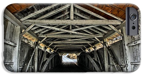 Recently Sold -  - Covered Bridge iPhone Cases - Portal to Serenity iPhone Case by DJ Florek