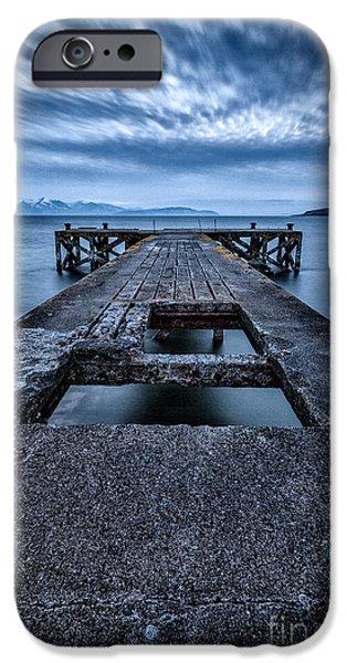 Misty Prints iPhone Cases - Portencross Pier  iPhone Case by John Farnan